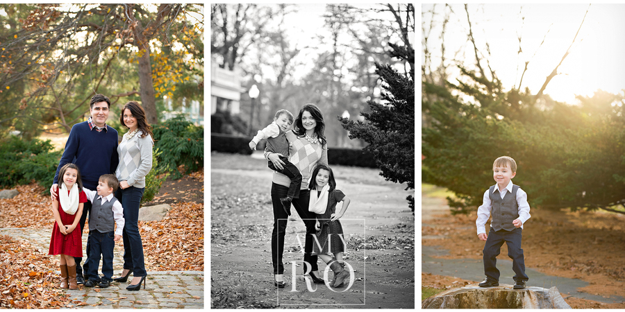 Images of mom, dad and kids during family session lifestyle in Rhode Island